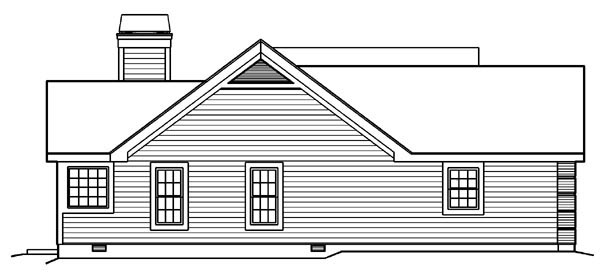 Country, Traditional House Plan 95801 with 3 Beds, 2 Baths, 2 Car Garage Picture 1