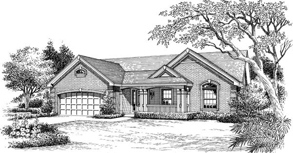 Country, Traditional House Plan 95801 with 3 Beds, 2 Baths, 2 Car Garage Picture 3