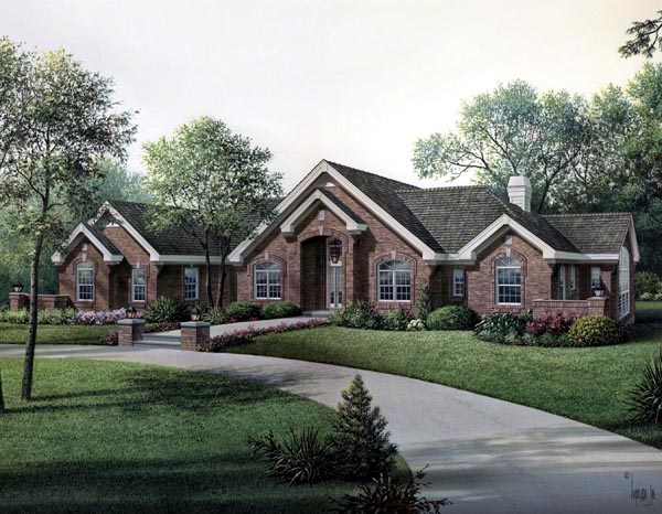 Ranch Traditional House Plan 95803 Elevation