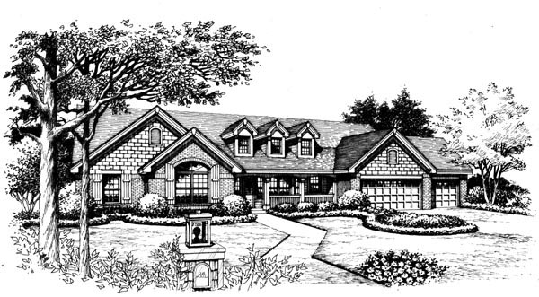 Cape Cod, Country, Ranch, Traditional House Plan 95812 with 4 Beds, 3 Baths, 3 Car Garage Picture 3