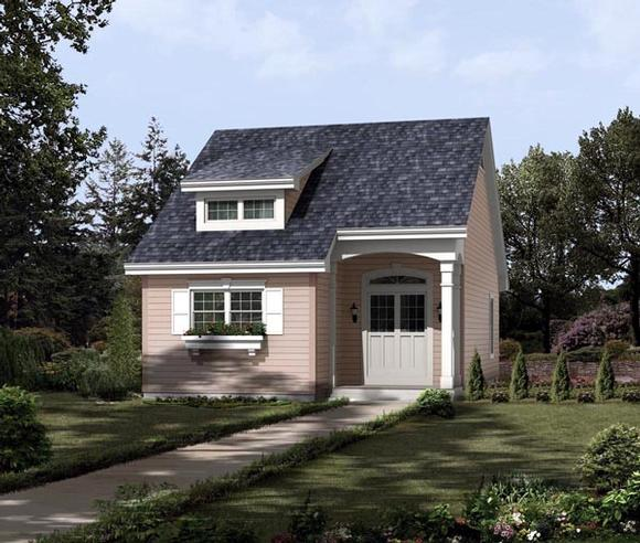 Contemporary, Traditional House Plan 95813 with 2 Beds, 1 Baths Elevation
