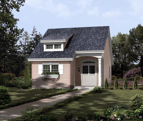 Contemporary , Traditional House Plan 95813 with 2 Beds, 1 Baths Elevation