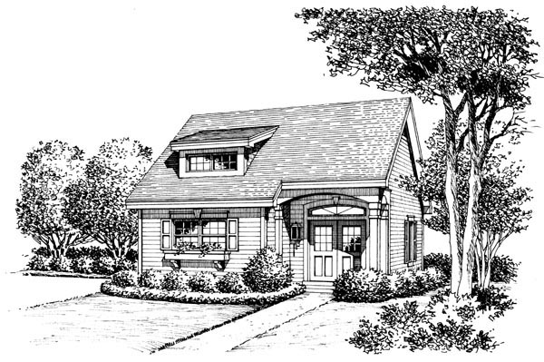 Contemporary, Traditional House Plan 95813 with 2 Beds, 1 Baths Picture 3