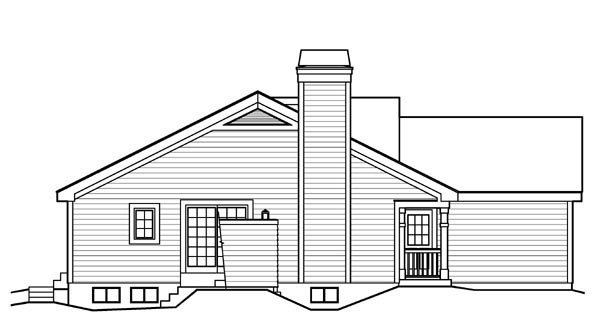 Country, Ranch, Traditional House Plan 95816 with 4 Beds, 3 Baths, 2 Car Garage Picture 1