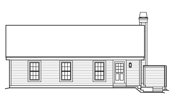 Country, Ranch, Traditional House Plan 95816 with 4 Beds, 3 Baths, 2 Car Garage Rear Elevation