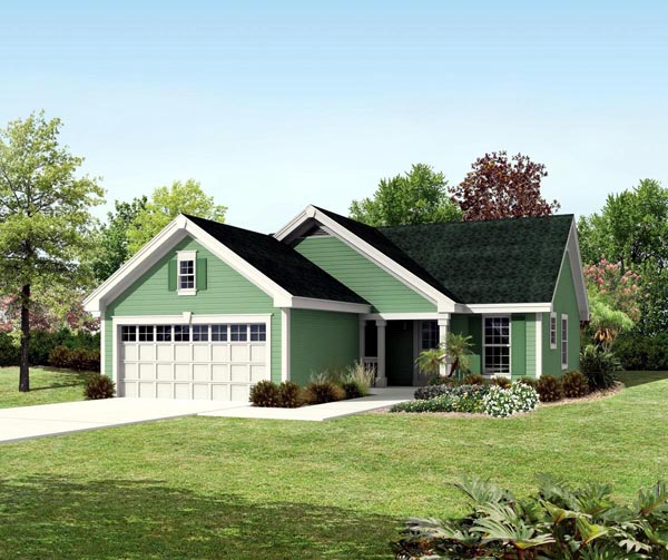 Ranch Traditional House Plan 95819 Elevation