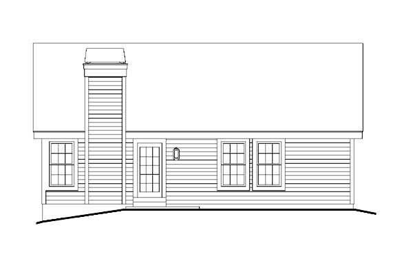 Ranch Traditional House Plan 95819 Rear Elevation