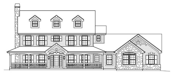 Cape Cod Colonial Country Farmhouse House Plan 95822