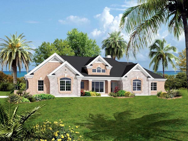 Ranch Traditional House Plan 95825 Elevation