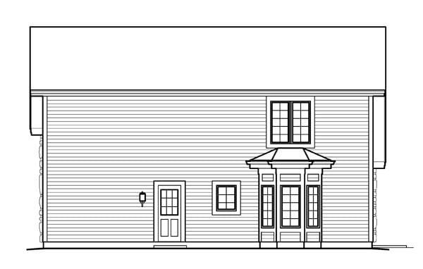 Cabin Cottage Country Craftsman Garage Plan 95827 Rear Elevation