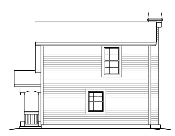 Country House Plan 95829 Rear Elevation