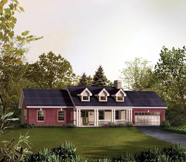 Cape Cod Country Ranch Traditional House Plan 95830 Elevation