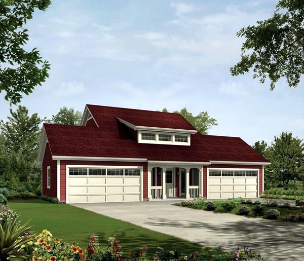 Contemporary Country House Plan 95832 Elevation