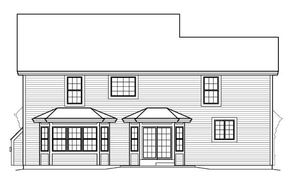 Country Traditional House Plan 95835 Rear Elevation