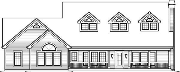 Contemporary, Country House Plan 95849 with 5 Beds, 6 Baths, 2 Car Garage Picture 4
