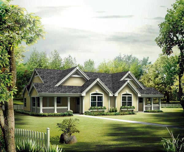 Country Ranch Multi-Family Plan 95864 Elevation