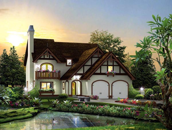 House plan 95876 at for Tudor cottage house plans