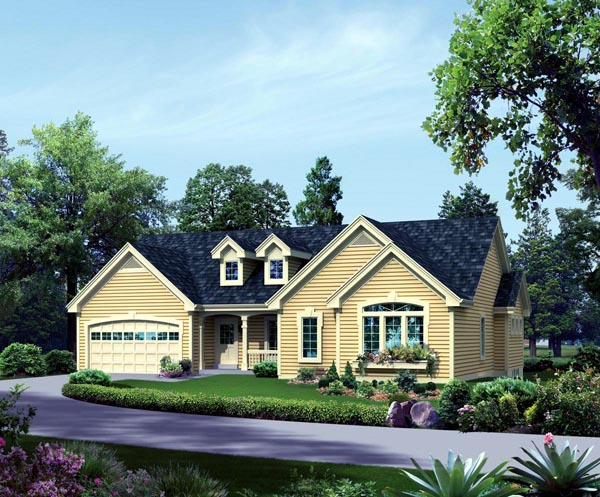 Contemporary, Country, Traditional House Plan 95877 with 4 Beds, 3 Baths, 2 Car Garage Elevation