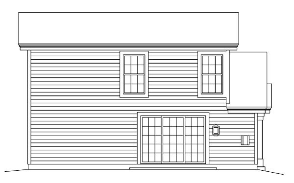 Country Traditional House Plan 95879 Rear Elevation