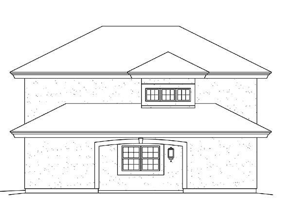 Southwest 2 Car Garage Apartment Plan 95880 with 1 Beds, 1 Baths Picture 2