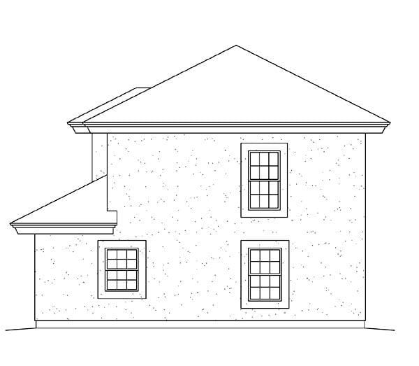Southwest 2 Car Garage Apartment Plan 95880 with 1 Beds, 1 Baths Rear Elevation