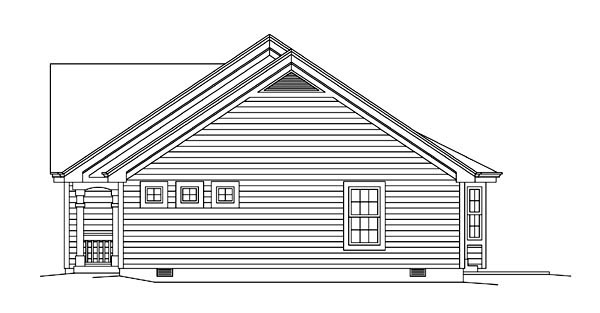 Colonial, Ranch Multi-Family Plan 95881 with 4 Beds, 4 Baths, 2 Car Garage Picture 2