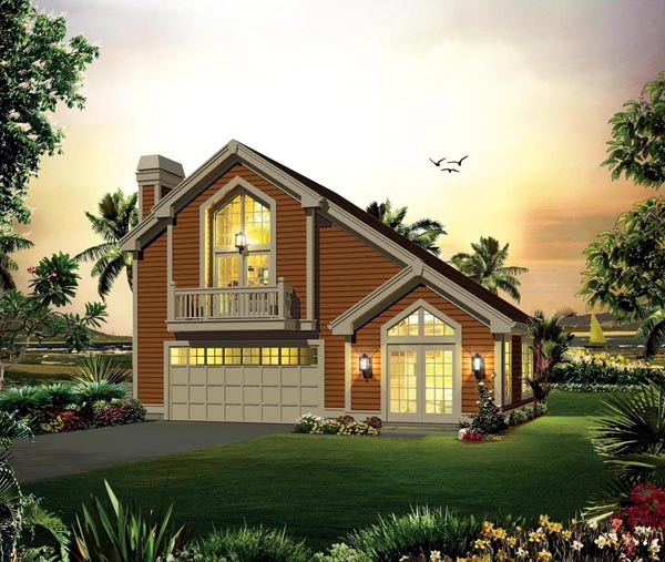 Contemporary Country House Plan 95883 Elevation
