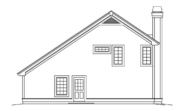 Contemporary Country House Plan 95883 Rear Elevation