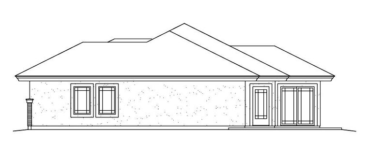 Contemporary, Prairie House Plan 95886 with 3 Beds, 3 Baths, 2 Car Garage Picture 2