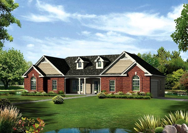 Cape cod colonial country ranch traditional house plan 95891 for Country cape cod house plans