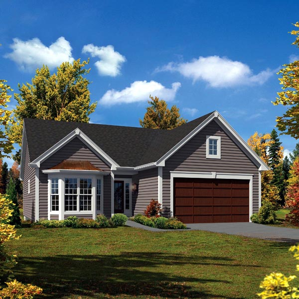Cabin Cottage Country Ranch Traditional House Plan 95906 Elevation