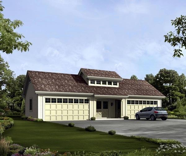 Garage Plan 95919 Elevation