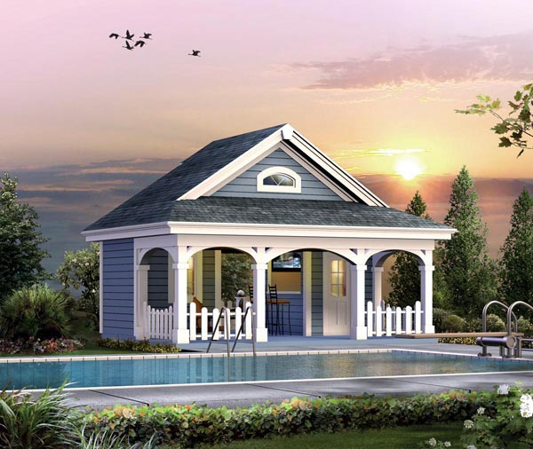 Poolhouse Plan 95938 at FamilyHomePlanscom