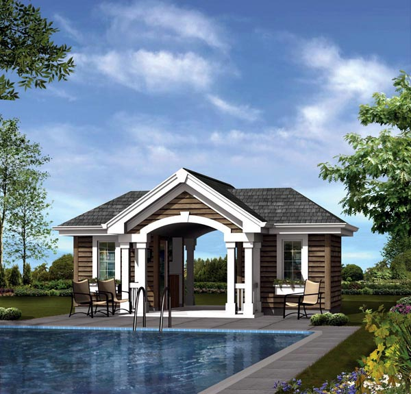 Plan 95941 at for Cost to build a pool house with bathroom