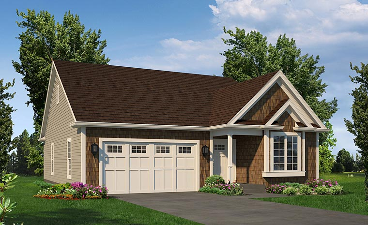 Ranch Traditional Elevation of Plan 95952