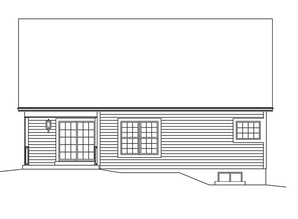 Ranch Traditional Rear Elevation of Plan 95952