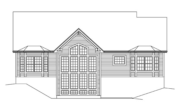 Country Ranch Traditional House Plan 95955 Rear Elevation