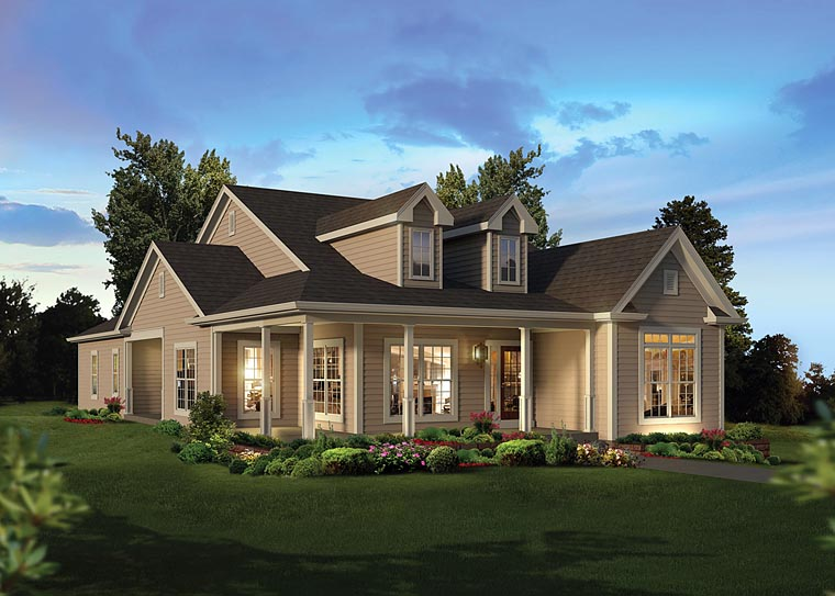Country Traditional House Plan 95963 Elevation