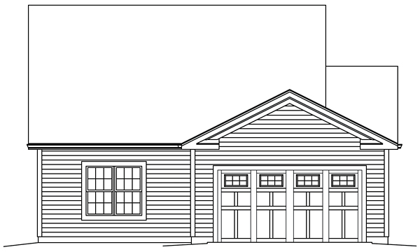 Country Traditional House Plan 95963 Rear Elevation