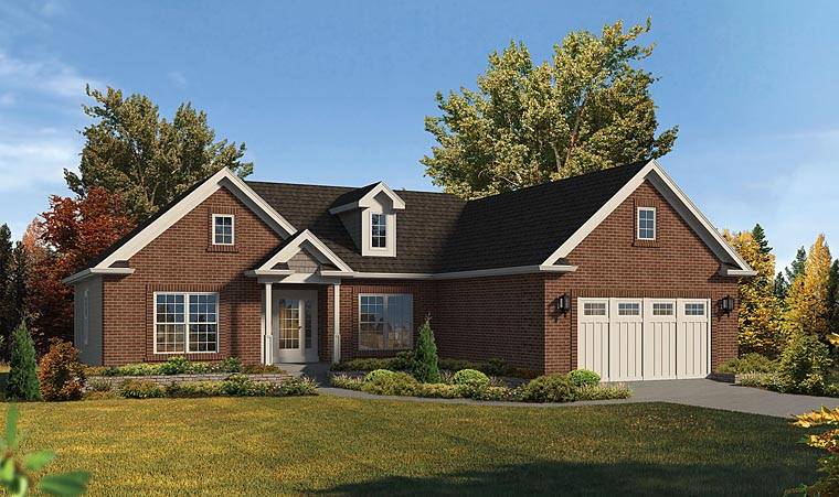 Traditional House Plan 95966 Elevation
