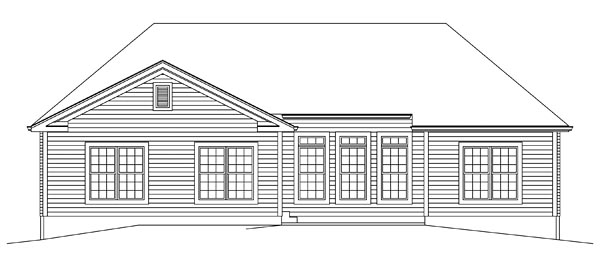 Traditional House Plan 95966 Rear Elevation