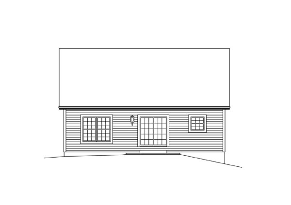 Traditional House Plan 95976 Rear Elevation