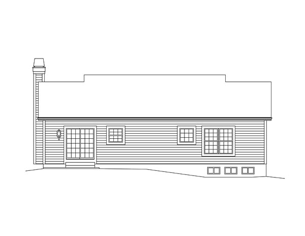 Ranch Traditional Rear Elevation of Plan 95979