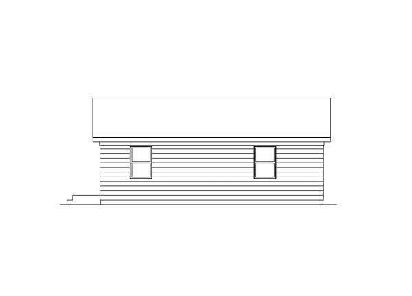 Ranch House Plan 95987 Rear Elevation