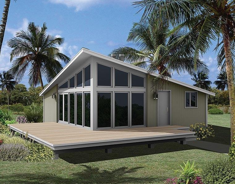 Coastal Contemporary House Plan 95996 Elevation