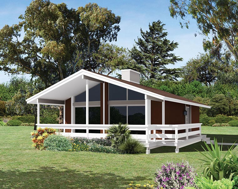 House plan 95998 at for 2 bedroom beach house plans