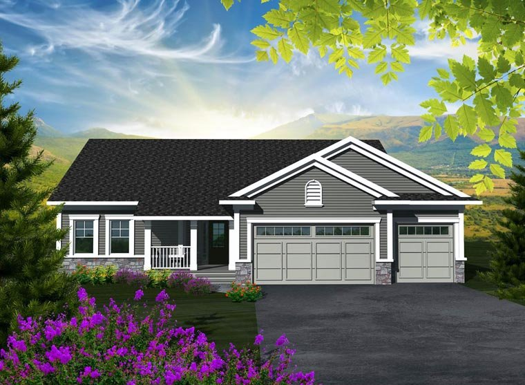 Ranch House Plan 96100 Elevation