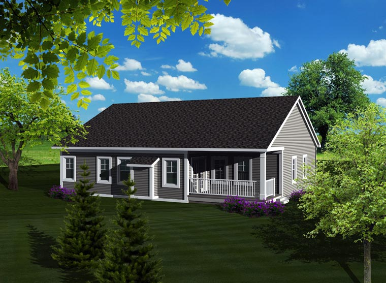 Ranch House Plan 96100 Rear Elevation