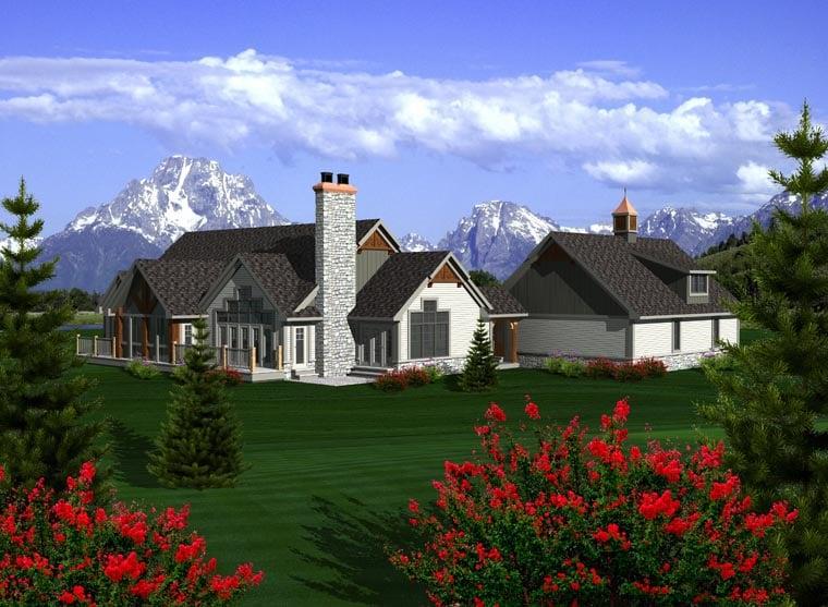House Plan 96106 Rear Elevation