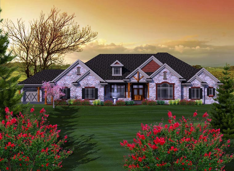 Ranch House Plan 96115 Elevation